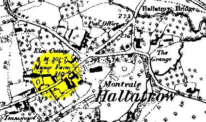 1888 Map of Hallatrow