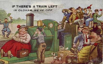 Although this picture postcard was produced about 15 years after Job left England, I can imagine it expresses sentiments he would have agreed with!